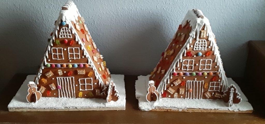 Lebkuchenhäuser am Adventsmarkt