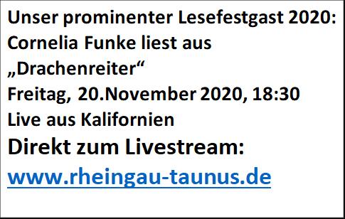 Lesefest 2020 - Livestream Lesung