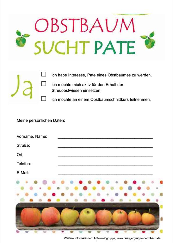"""Apfelkuchenverkauf und Projekt """"Streuobstwiese"""""""